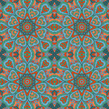 De tekening van de Mandalakrabbel Kleurrijk naadloos ornament Royalty-vrije Stock Afbeelding
