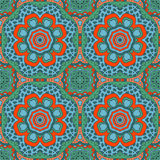 De tekening van de Mandalakrabbel Kleurrijk seanless ornament Royalty-vrije Stock Afbeeldingen
