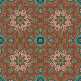 De tekening van de Mandalakrabbel Kleurrijk seanless ornament Stock Afbeelding