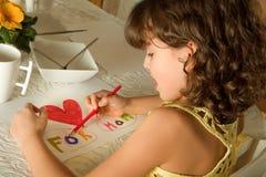 De tekening van de moeder stock foto's