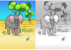 De tekening van de olifant Stock Afbeelding