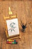 De tekening van de schoolkunst Stock Afbeeldingen