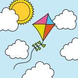 De tekening van de vlieger vector illustratie