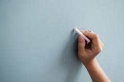 De tekening van de vrouwenhand Stock Foto's
