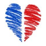 De tekening van het hart Stock Foto