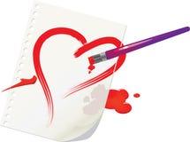 De tekening van het hart Stock Afbeeldingen