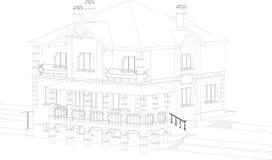De tekening van het huis Stock Afbeelding