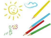De tekening van het kind stock illustratie