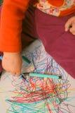 De tekening van het kind Stock Afbeeldingen