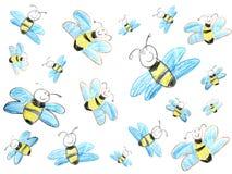 De tekening van het kind van bijen Royalty-vrije Stock Afbeeldingen