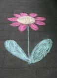 De tekening van het kind van bloem. Royalty-vrije Stock Fotografie