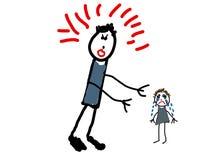 De tekening van het kind van misbruik Stock Afbeeldingen