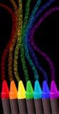 De tekening van het kleurpotlood stock illustratie