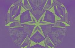 De tekening van het kubussenpotlood door een 5de geproduceerde die nivelleermachinecomputer wordt gemaakt Royalty-vrije Stock Afbeeldingen