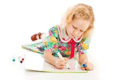De tekening van het meisje stock foto