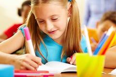 De tekening van het meisje Stock Foto's