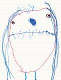 De Tekening van het meisjeskind Stock Foto