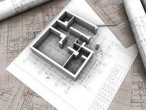 De tekening van het plan Stock Afbeeldingen
