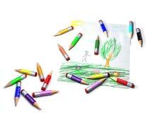 De tekening van het potlood Royalty-vrije Stock Afbeeldingen
