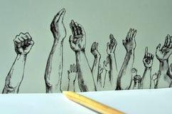 De tekening van het potlood Stock Afbeelding