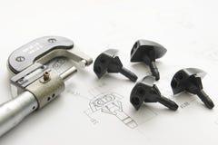 De tekening van het product en metingshulpmiddel Stock Afbeelding