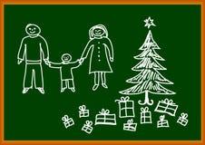 De tekening van Kerstmis Royalty-vrije Stock Fotografie