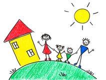 De tekening van kinderen royalty-vrije illustratie