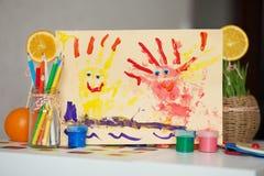 De tekening van kinderen Stock Foto's