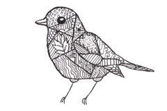 De tekening van kinderen een vogel royalty-vrije illustratie
