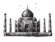 De Tekening van Mahal van Taj Stock Afbeelding