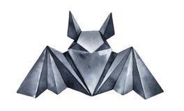 De tekening van de waterkleur van donkere Origamiknuppel stock illustratie