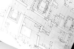 De tekening voor het project Stock Foto's