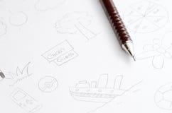 De Tekeningen van het document Stock Fotografie