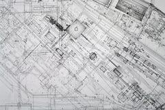 De tekeningenachtergrond van het project. Stock Foto's