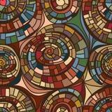 De tekenings naadloos patroon van de wervelingslijn Royalty-vrije Stock Afbeeldingen