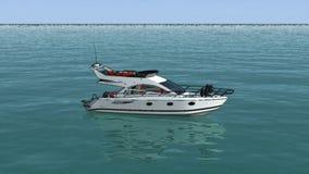 De tekeningsboot wordt een werkelijkheid royalty-vrije illustratie