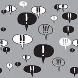 De Tekens Gray Pattern van de uitroeptekst Royalty-vrije Stock Afbeelding