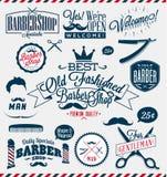 De tekens van Barber Shop of van de Kapper Stock Foto's