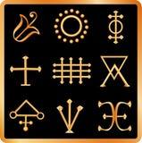 De tekens van de alchimie no.2 Royalty-vrije Stock Foto's