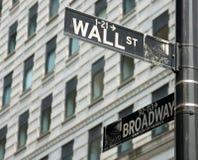 De tekens van de de stadsstraat van New York Royalty-vrije Stock Foto