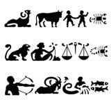 De tekens van de dierenriem Stock Foto's