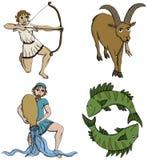 De Tekens van de dierenriem - 3de periode Stock Afbeeldingen