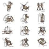 De tekens van de dierenriem Royalty-vrije Stock Foto's