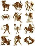 De tekens van de dierenriem Stock Afbeelding