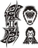 De tekens van de dierenriem - Leeuw Vinyl-klaar vectorreeks Royalty-vrije Stock Afbeeldingen