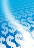 De tekens van de dollar royalty-vrije illustratie