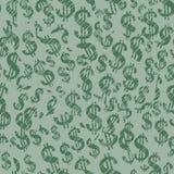De tekens van de dollar (naadloos vectorbehang) Stock Afbeeldingen