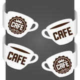 De tekens van de linkerzijde en van de rechterkant - Koffie Royalty-vrije Stock Foto's
