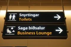 De tekens van de luchthaven royalty-vrije stock afbeelding
