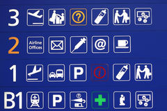 De tekens van de luchthaven Royalty-vrije Stock Foto